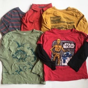 5 Long Sleeve Tee lot Size 5 Star Wars R2-D2